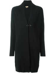 Fay Long Cardigan Black