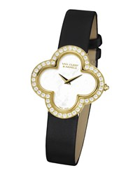 Alhambra Sertie Yellow Gold Watch Small Van Cleef And Arpels Yellow Gold