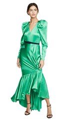 Hellessy Florine Dress Kelly Green