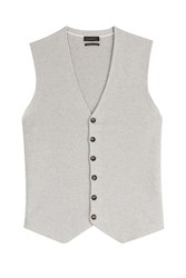 Baldessarini Cotton Cashmere Sweater Vest Grey