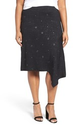Nic Zoe Plus Size Women's Embellished Asymmetrical Knit Skirt