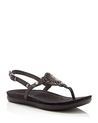 Ugg Ayden T Strap Thong Sandals Black