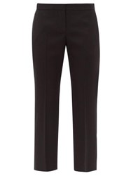 Alexander Mcqueen Wool Twill Tailored Trousers Black