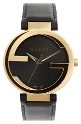 Gucci Men's Leather Strap Watch 40Mm