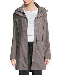 Under Armour Signature Woven Trench Coat Gray Pattern