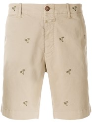 Closed Palm Tree Shorts Nude And Neutrals