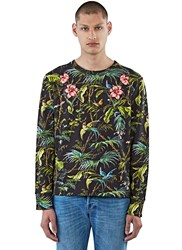 Gucci Tropical Print Jersey Sweater Black