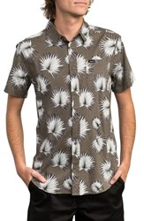 Rvca Palms Woven Shirt Olive