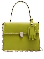 Valentino Rockstud Spike Leather Tote Green