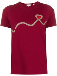 Chinti And Parker Heart Print T Shirt 60