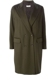 Alberto Biani Double Breasted Overcoat Green