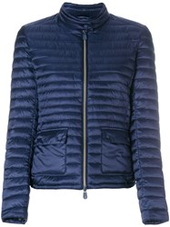 Save The Duck Round Neck Padded Jacket Blue