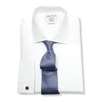 T.M.Lewin Luxury Twill Fitted Shirt White