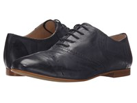Massimo Matteo Perf Cap Oxford Navy Women's Lace Up Casual Shoes