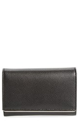 Women's Halogen Bar Leather Trifold Wallet Black