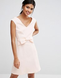 Coast Mayra Jaquard Mini Dress With Bow Blush Pink