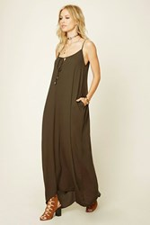 Forever 21 Tie Front Pocketed Maxi Dress