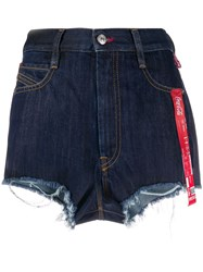Diesel Recycled Denim Shorts With Print And Ribbon Details 60