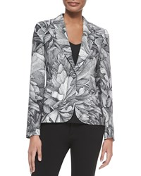 Escada Thilo Westermann Flower Blazer Black