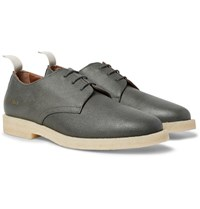 Common Projects Cadet Pebble Grain Leather Derby Shoes Dark Gray