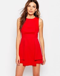 Finders Keepers Frame Mini Dress Orange Red