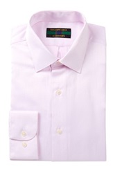 Alexander Julian Embossed Long Sleeve Regular Fit Shirt Pink