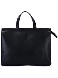 Isaac Reina Pleated Laptop Bag Black