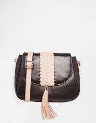 Urbancode Leather Saddle Bag Black