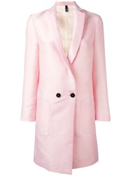 Christian Pellizzari Double Breasted Coat Pink Purple