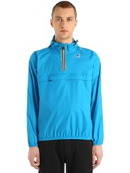 K Way Le Vrai 3.0 Leon Packable Nylon Anorak Blue