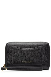 Marc Jacobs Leather Recruit Zip Around Phone Wristlet Black