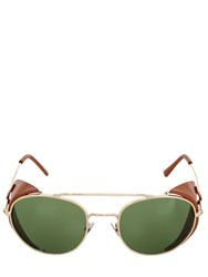 L.G.R Amref Dahlak Metal And Leather Sunglasses