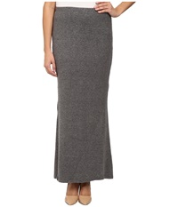 Bobeau Sweater Maxi Skirt Heather Grey Women's Skirt Gray