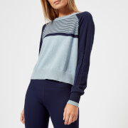 Lndr Prism Crop Knitted Jumper Light Blue Marl