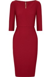 Roland Mouret Etty Stretch Crepe Dress Claret