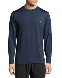 Callaway Long Sleeve Crewneck Tee Mood Indigo