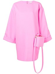 Natasha Zinko Crossbag Oversized Dress Pink