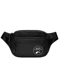 A.P.C. Guitar Logo Waist Bag Black