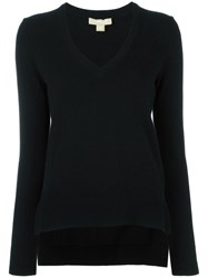 Michael Kors V Neck Jumper Black
