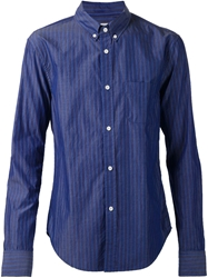 Band Of Outsiders Striped Button Down Shirt Blue