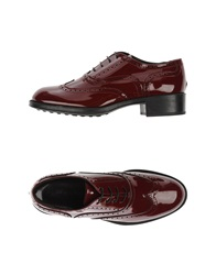 Alberto Moretti Lace Up Shoes Maroon