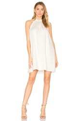 Bobi Black Woven Halter Dress White