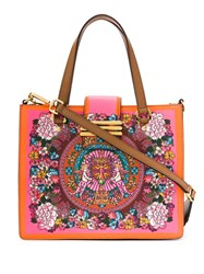 Etro Floral Print Tote Bag Yellow