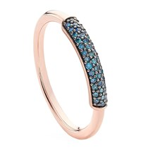 Monica Vinader Stellar Blue Diamond Stacking Ring Female