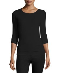 Atm Anthony Thomas Melillo Jackie Knit Ballet Top Black