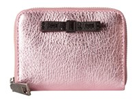 Marc Jacobs Metallic Bow Zip Card Case Pink Credit Card Wallet