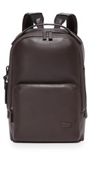 Tumi Harrison Leather Webster Backpack Brown