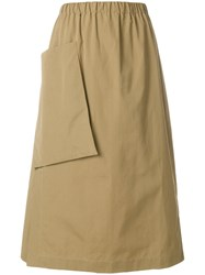 Sofie D'hoore Patch Pocket A Line Skirt Brown