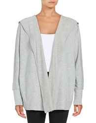 Nanette Lepore Open Front Heathered Jacket Grey Heather