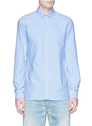 Denham Jeans 'Rhys' Cotton Oxford Shirt Blue